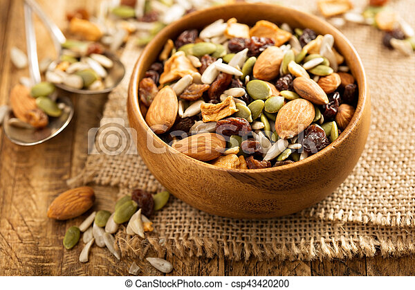 Dried fruit and nuts trail mix - csp43420200