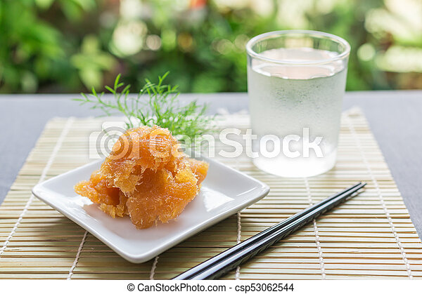 Dried fruit, Preserved pineapple - csp53062544