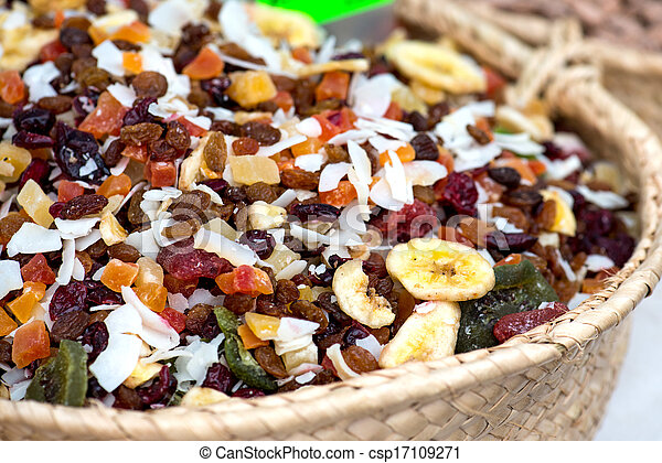 Dried Fruits On The Market - csp17109271