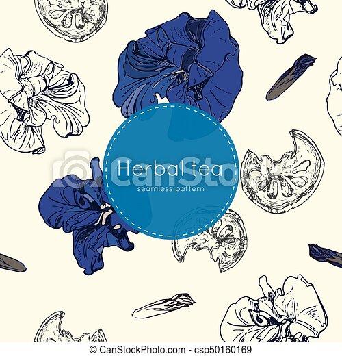 dried herbal thai tea , seamless pattern - csp50160169