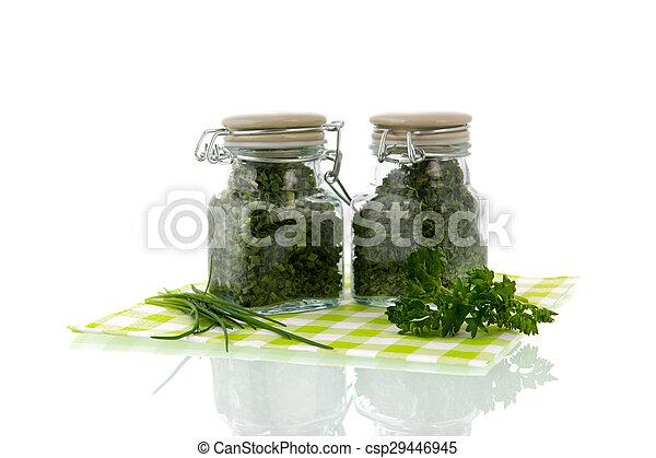Dried kitchen herbs - csp29446945