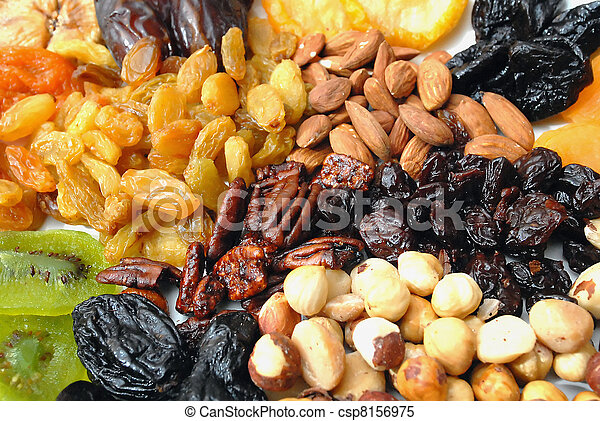 Dried Nuts and Fruits Collection  - csp8156975