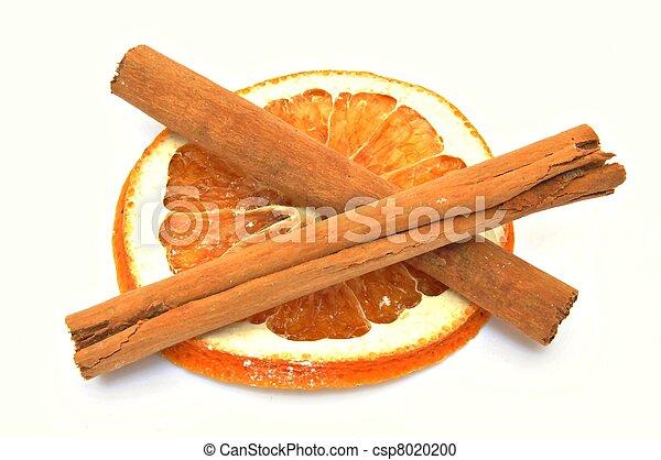Dried orange slice with cinnamon - csp8020200