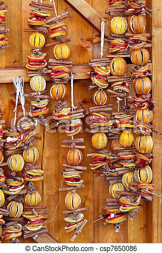 Dried Orange Slices Christmas Wall Christmas Decoration Made Of