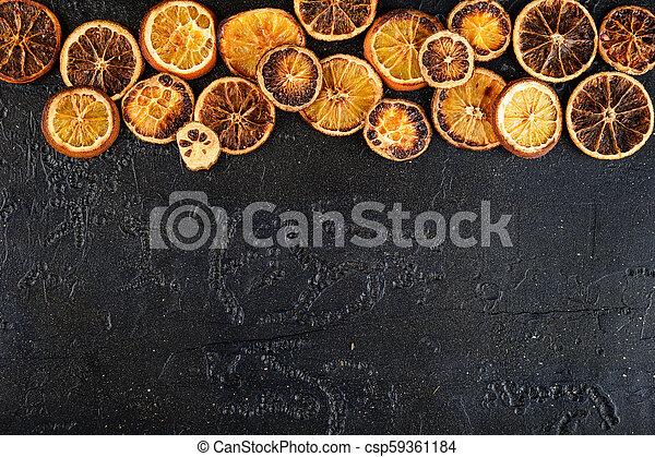 Dried orange slices - csp59361184