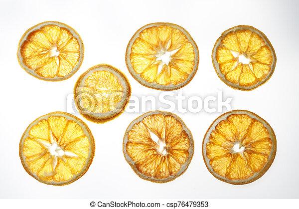Dried orange slices - csp76479353