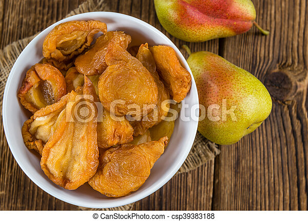 Dried Pears (selective focus) - csp39383188