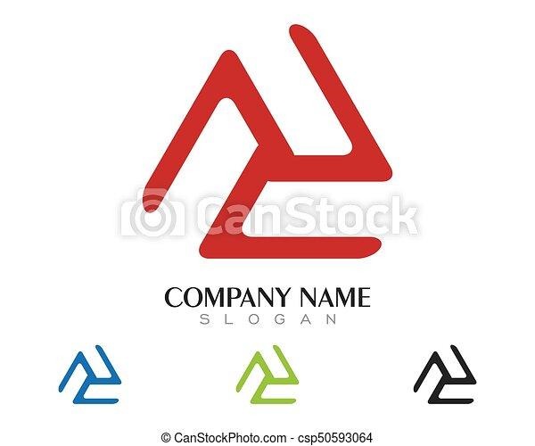 driehoek, illustratie, vector, ontwerp, mal, logo, pictogram - csp50593064