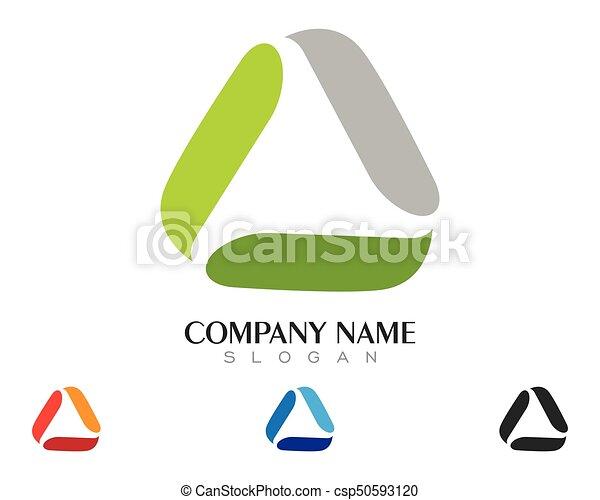 driehoek, illustratie, vector, ontwerp, mal, logo, pictogram - csp50593120