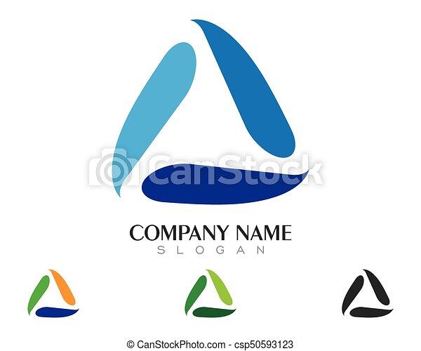driehoek, illustratie, vector, ontwerp, mal, logo, pictogram - csp50593123