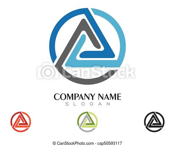 driehoek, illustratie, vector, ontwerp, mal, logo, pictogram - csp50593117