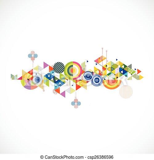 driehoek, kleurrijke, abstract, illustratie, creatief, achtergrond, vector - csp26386596
