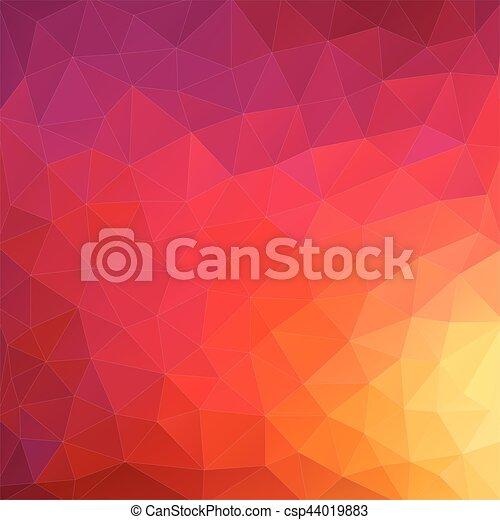 driehoek, kleurrijke, shapes., pattern., achtergrond., retro, achtergrond, geometrisch, mozaïek - csp44019883