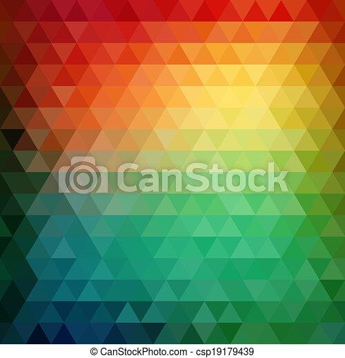 driehoek, model, gedaantes, retro, geometrisch, mozaïek - csp19179439