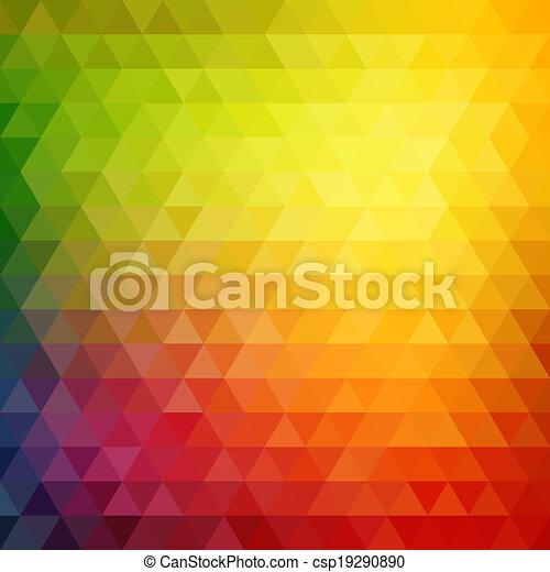 driehoek, model, gedaantes, retro, geometrisch, mozaïek - csp19290890