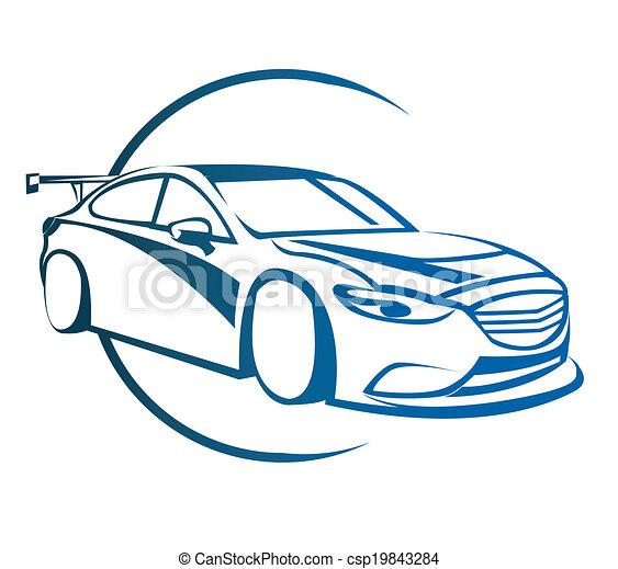 Drift Car Symbol - csp19843284