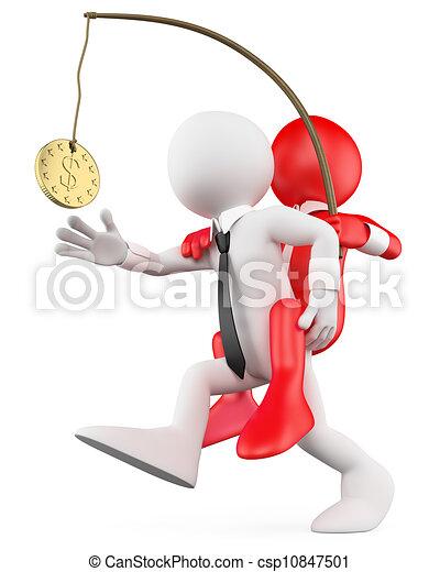 driftsleder, fordel, holde, folk., hans, ansatte, 3, hvid - csp10847501