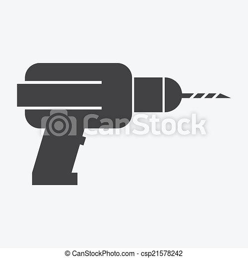 Drill icon - csp21578242