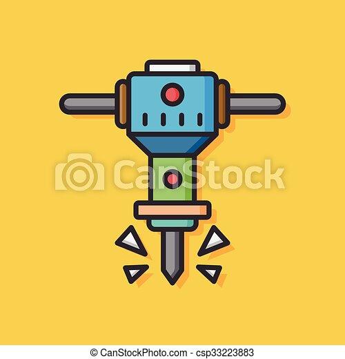 drill tool vector icon - csp33223883