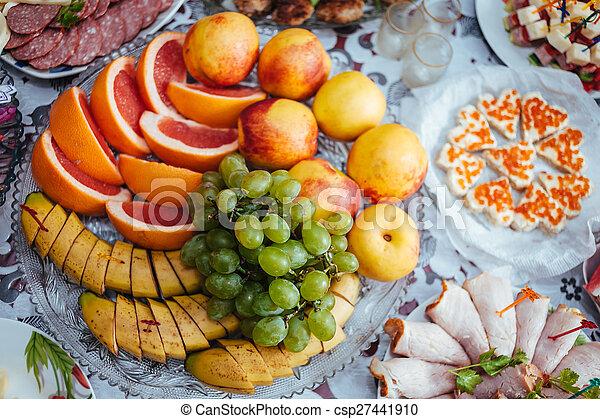drink., alimento, tradicional, banquet., boda, tabla - csp27441910