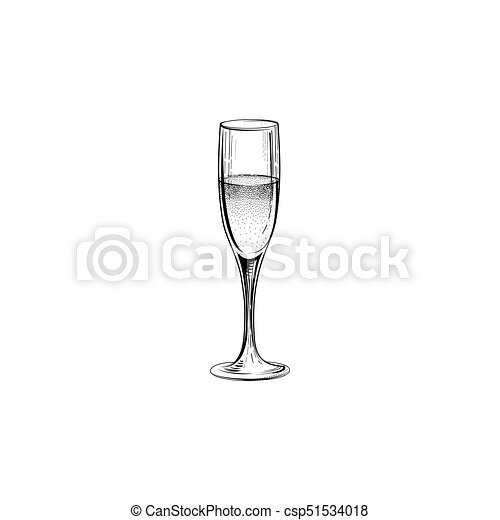 Drink champagne sign. christmas party icon with wine glass. hand ...