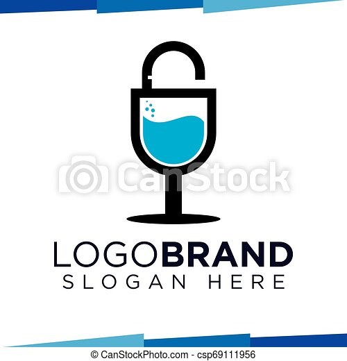 Drink Key Logo Vector template - csp69111956