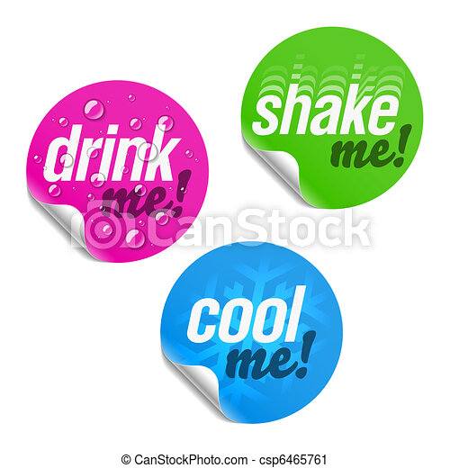 Drink me, shake me and cool me - csp6465761