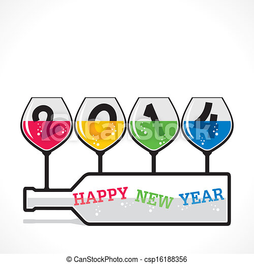 drink or party theme happy new year csp16188356