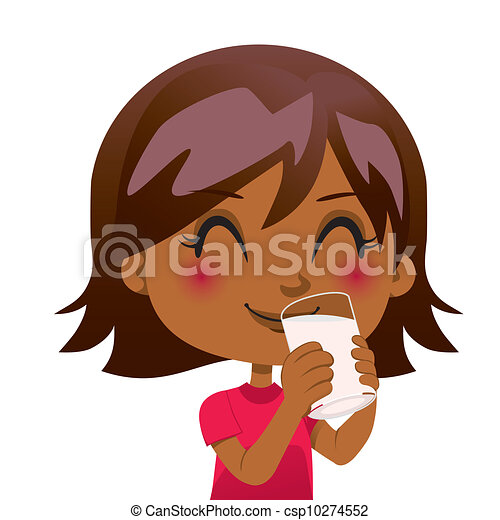 Drinking Nutritious Milk - csp10274552