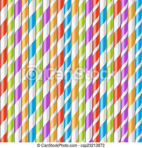 Drinking straws background - csp23213873