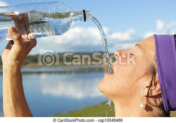 Drinking water at sport - csp10048486