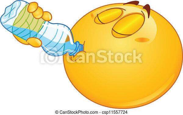 Drinking water emoticon - csp11557724