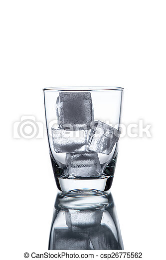 Drinking water is poured into a glass - csp26775562