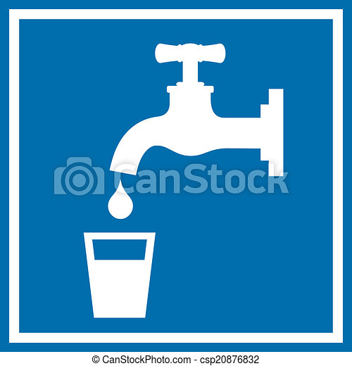 Drinking water sign - csp20876832