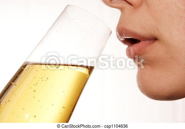 Drinking woman 4 - csp1104636
