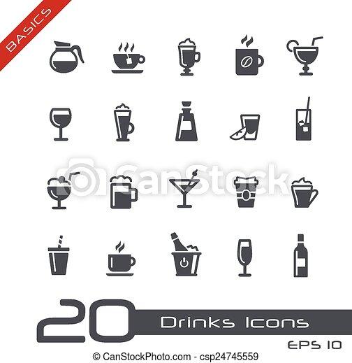 Drinks Icons -- Basics - csp24745559