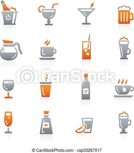 Drinks Icons -- Graphite Series - csp33267017