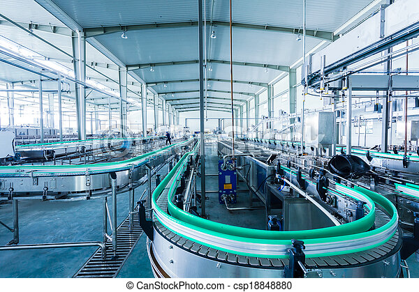 drinks production plant in China - csp18848880
