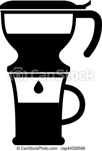 Drip pot coffee maker - csp44358566