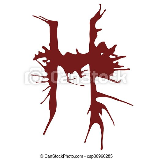 Dripping blood ink fonts the letter h the letter h alphabet dripping blood ink fonts the letter h csp30960285 thecheapjerseys Images