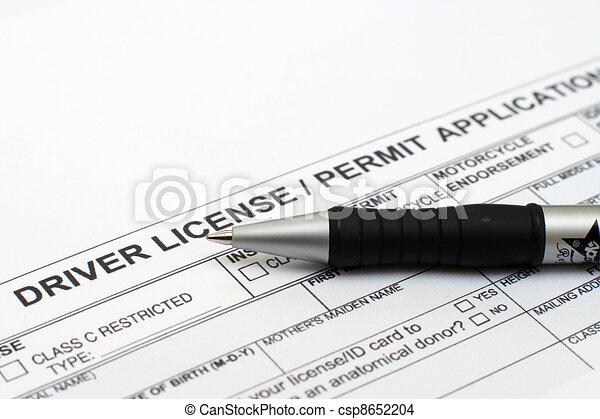 Driver license application  - csp8652204
