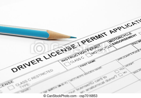 Driver license application  - csp7016853