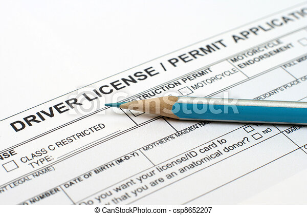 Driver license application  - csp8652207