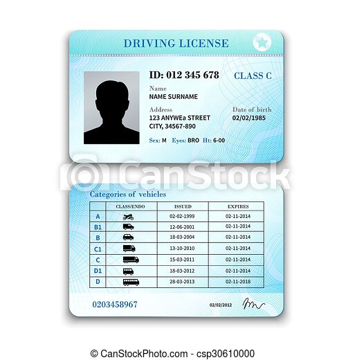 Driver License Illustration - csp30610000