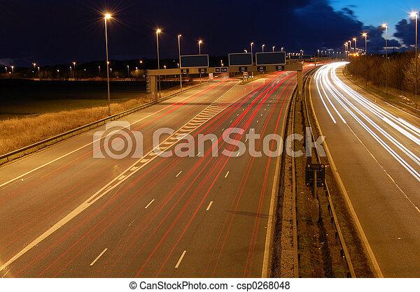 Driving At Night - csp0268048