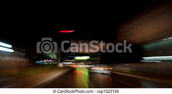 Driving at Night - csp1523159