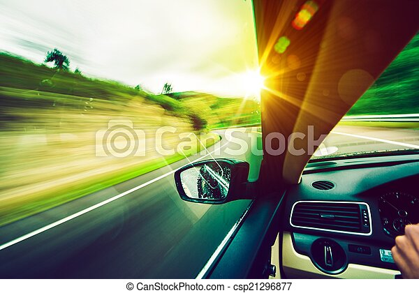 Driving Down the Road - csp21296877