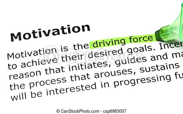 'Driving force', under 'Motivation'  - csp6983007