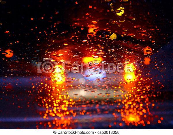 Driving in the rain - csp0013058