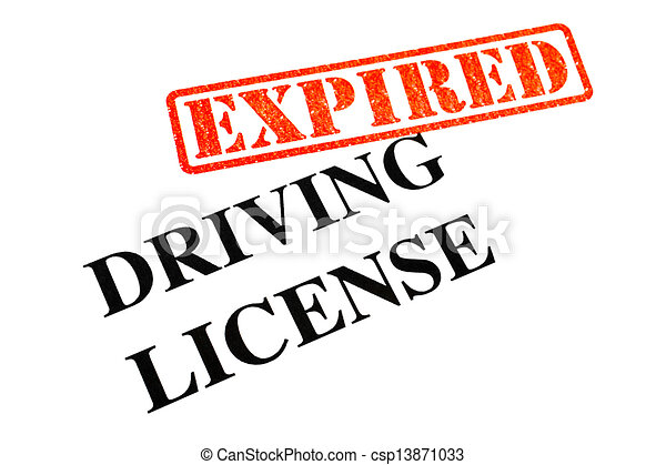 Driving License EXPIRED - csp13871033